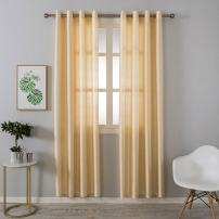 Grace Duet Sheer Curtains Airy Gauzy Window Treatments Panels Beige Window Curtains for Bedroom Curtain Sheer Cream 1 Panel (54 x95, Creamy)