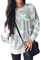 Shawhuwa Womens Long Sleeve Sweatshirt Loose T-Shirt Blouses Tops