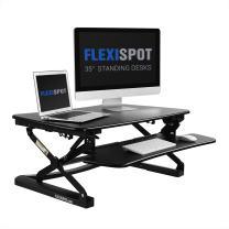FlexiSpot Stand up Desk - 35 Height Adjustable Standing Desk Riser, Stand up Desk for Dual Monitors