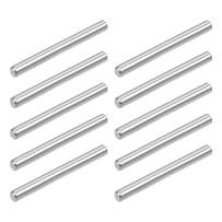 uxcell 10Pcs 4mm x 35mm Dowel Pin 304 Stainless Steel Wood Bunk Bed Dowel Pins Shelf Pegs Support Shelves Silver Tone
