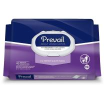 Prevail Quilted Cleansing Wipes, 8 x 12 in, Case/576 (12/48s)