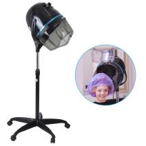 Floor Stand Hair Bonnet Dryer, Adjustable Swivel Hood and Height Up Rolling Base Wheels Salon Hair Styling Tool