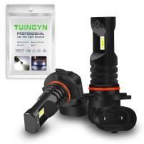 TUINCYN H10 9140 9145 LED Fog Light Bulbs 6500K 1600LM White CSP Chips Extremely Bright 6500K DRL Daytime Running Lights Replacement Fog Light Lamp 80W High Power 12V-24V DC(Pack of 2).