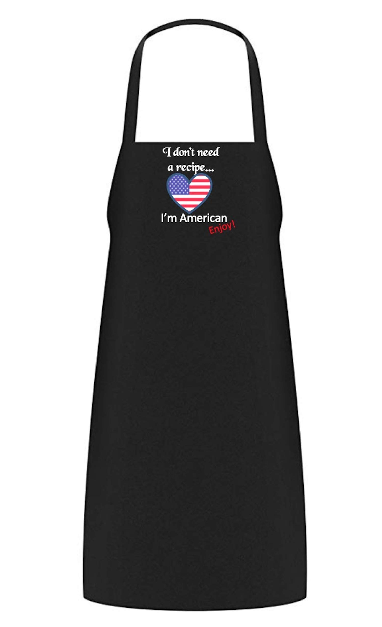 HARPEL My Cuisine Kitchen Apron (American) for Women & Men. Black Chef Aprons with Pockets for Grill & BBQ Cooking. Funny Quote on Bib. Adjustable Neck Strap, Non Crease, Durable Unisex Adult Size