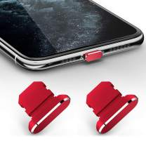 TITACUTE 2 Pack Anti Dust Plugs for iPhone 11, iPhone 11 Pro Max Dust Cover 8 Pin Dust Plug with Mini Storage Box iPhone Charging Port Plugs Compatible with iPhone 11 Pro/XS Max/XR/ 8 Plus Red