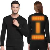 FERNIDA Insulated Heating Underwear Washable USB Electric Heated Thermal Long Sleeve T Shirts and Pants(Battery Not Included)