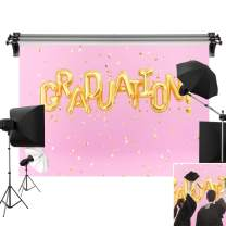 Kate 7x5ft/2.2m(W) x1.5m(H) Graduation Ceremony Backdrop Pink Background School Theme Backdrops Golden Graduation Party Backgrounds