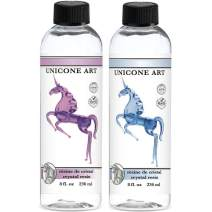 Unicone Art Epoxy Resin Kit for Art and Jewelry Making, Clear Casting Liquid (16 Oz Set)