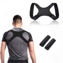 Posture Corrector for Men and Women, CHARMINER Adjustable Upper Back Brace Straightener for Natural Pain Relief, Posture Back Support, Posture Brace for Neck Shoulder Back Pain Relief