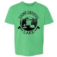 Pop Threads Camp Crystal Lake Counselor T Shirt Horror Costume Heather Irish Green 3T Toddler Kids Girl Boy T-Shirt