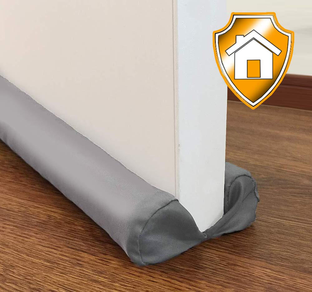MAXTID Under Door Draft Stopper 32 to 38 inches Grey Adjustable Insulation Sound Proof Door Air Draft Blocker for Noise Light Smell Stopper