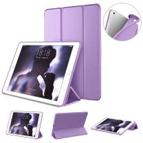 "DTTO Case for New iPad 7th Generation 10.2"" 2019, [Gentle Series] Slim Fit Lightweight Smart Trifold Stand with Soft TPU Back Cover for Apple iPad 10.2 inch 2019 Released [Auto Sleep/Wake], Purple"