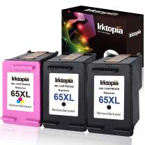 InktopiaRemanufactured for HP 65 XL 65XL Ink Cartridge High Yield, 2 Black and 1 Tri-Color, Use with HP Deskjet 3755 3752 3758 3732 3730 3721 3720 2624 2622 All-in-one Printer High Yield