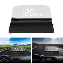 Car HUD Display, Head Up Display 3.5'' Screen Car HUD Head Up Display OBD2 Interface Plug & Play Vehicle Speed KM/H MPH, Overspeed Warning, Water Temperature, Battery Voltage. Technology chip