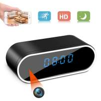 Hidden Camera Clock,HD 1080P WiFi Camera Alarm Clock with Night Vision and Motion Detective,Monitor Video Recorder Nanny Cam for Home Office Security
