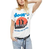 Aesthetic T Shirts Women Summer Vintage Retro Graphic White Grunge Cute Tee Tops Clothing Oversized Plus Size