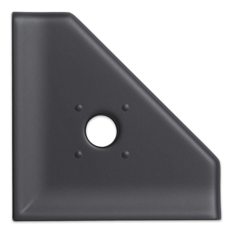 5 inch Shower Caddy Soap Dish - Graphite Black Corner Soap Tray Bathroom Organizer Geo Wall Mount Flatback Shelf