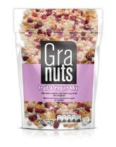 Granuts Fruit & Yogurt Mix Family Pack | Crispy, Yogurt-Covered Rice | Peanuts, Cranberries, & Pineapple | Delicious, Healthy Snack | Gluten-Free | 7.05 Oz (Pack of 1)
