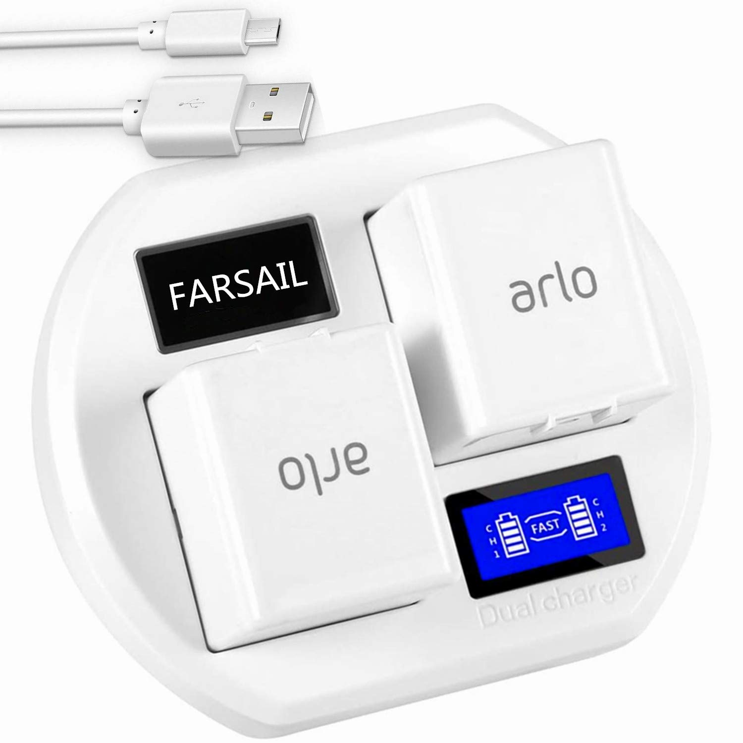 Battery Charger Station Compatible with Arlo Pro Batteries, Arlo Charging Stations, Arlo Pro 2 Batteries Charger, Arlo Camera Charger, Arlo pro Charger