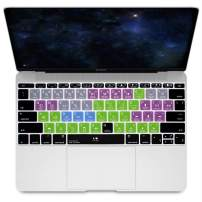 """HRH Avid Pro Tools Hotkey Silicone Keyboard Cover Skin for MacBook Pro 13"""" A1708 A1988 No Touch Bar 2018 2017 2016 Release and for MacBook 12"""" A1534 (2015)&A1931(2018) USA Layout Protective Skin"""