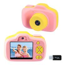 Kids Digital Camera Gifts for Girls 3-9 Years Old, 2.3'' Selfie Video Cameras for Children, Toddler 1080P Video Mini Camera Birthday Gift Home Play for Little Girls