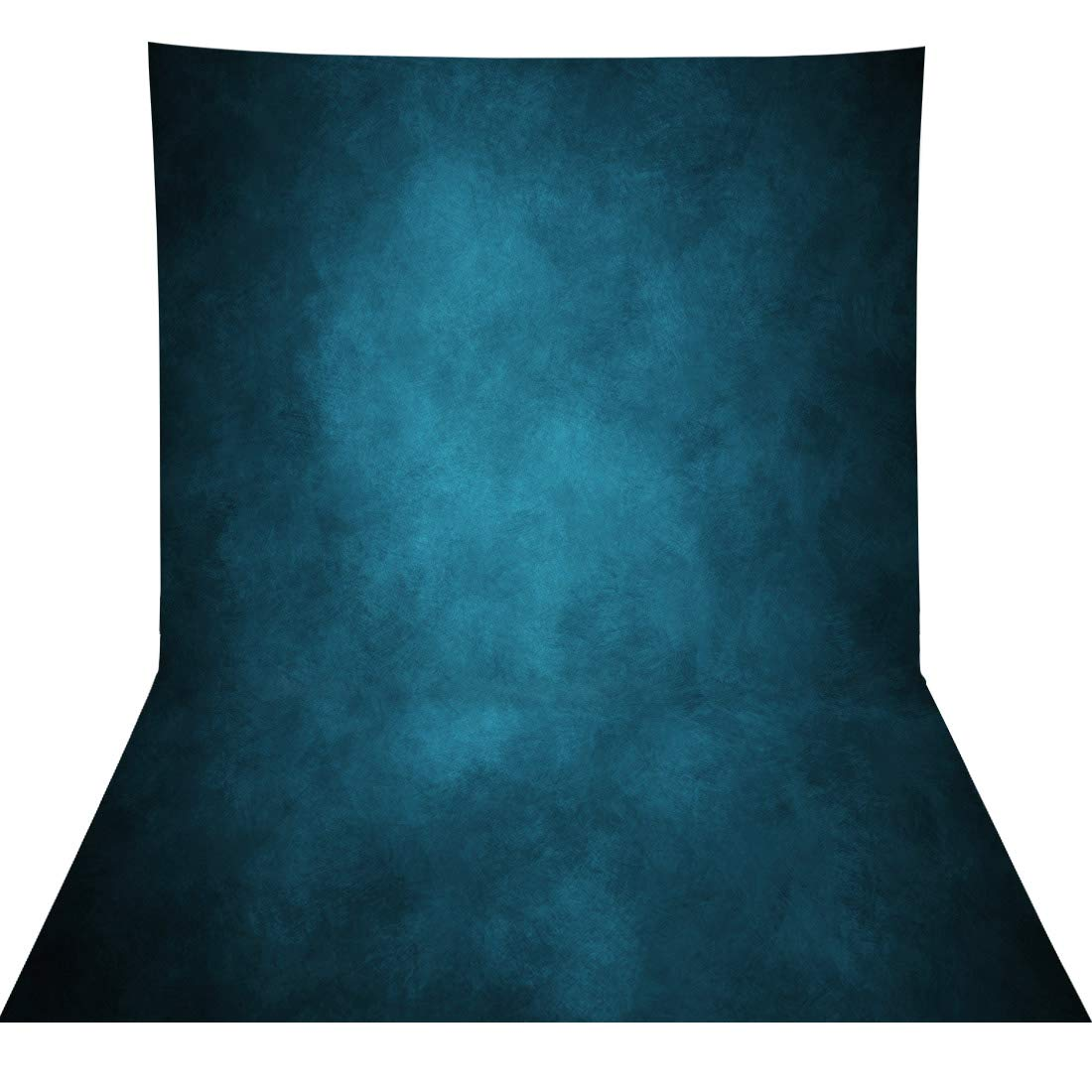 Allenjoy 5x7ft Fabric Old Master Portraits Pictures Shoot Photography Backdrop Supplies Vintage Elegant Dark Blue Abstract Texture Background Studio Professional Photographers Photoshoot Props Favors