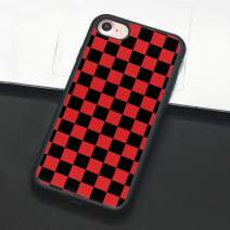Checkerboard Phone Case for iPhone 11 Pro Max XS Max XR X 8 Plus 7 Plus 8 7 6 6s 5s 5 se Hard Cover Grid Lattice Plaid Tartan Damier House Checkerboard Chessboard Checker Flag (iPhone 7/8,5)