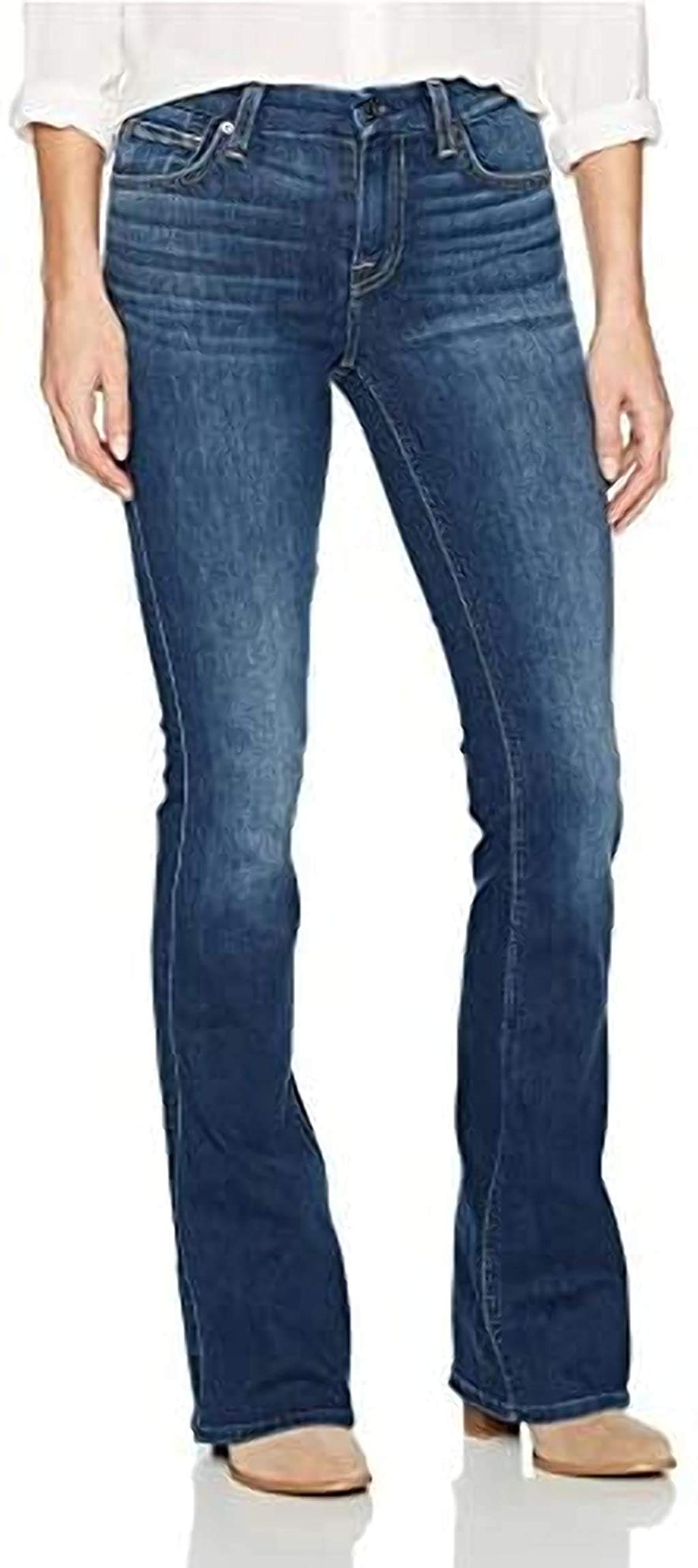 7 For All Mankind Women's Crop Flare Jean