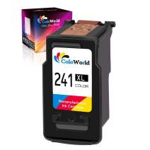 ColoWorld Remanufactured CL-241XL Color Ink Cartridge 1 Pack Replacement for Canon 240XL 241XL Used in Canon PIXMA MG3620 TS5120 MG3520 MX472 MX452 MG3220 MG2120 MX432 MX532 MX512 Printer(1 Tri-Color)