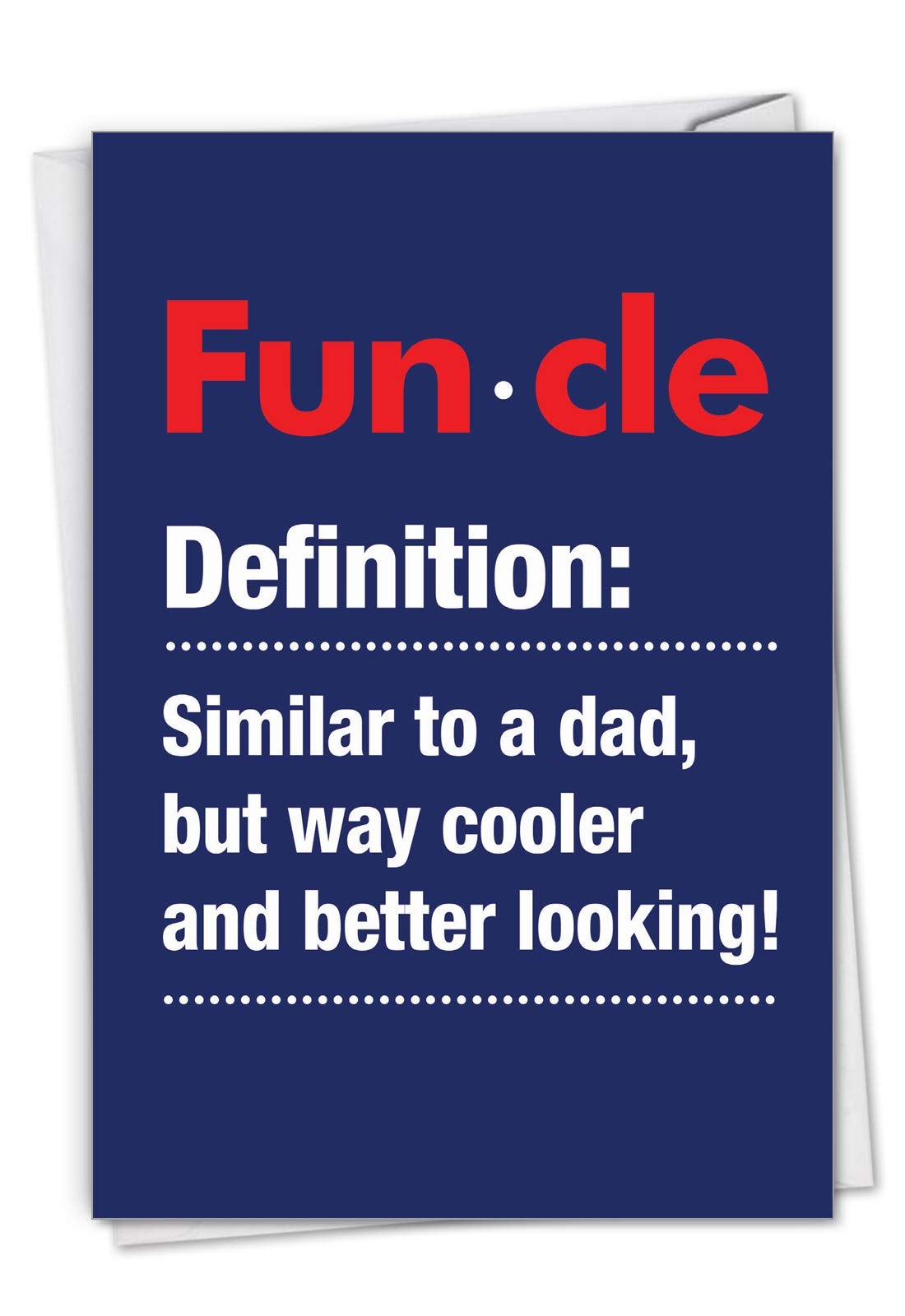 NobleWorks - Funcle - Cool Uncle Stationery Birthday Card with Envelope CC7232BDG
