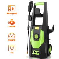 mrliance 3500PSI Electric Pressure Washer, 2.0GPM Electric Power Washer High Pressure Washer with Spray Gun, Brush, and 4 Adjustable Nozzle