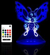 Tulio Dream Lights Bright Butterfly Multi-Use, Multi-Color Night Light