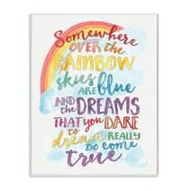 Stupell Industries Somewhere Rainbow Wall Plaque, 10x15, Design By Artist Erica Billups