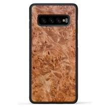Carved - Samsung Galaxy S10 Plus - Luxury Protective Traveler Case - Unique Real Wooden Phone Cover - Rubber Bumper - Maple Burl