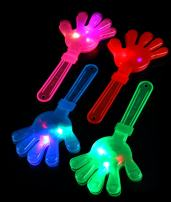 Fun Central 12 Pack - LED Light Up Hand Clappers Noisemakers & Musical Instrument Novelty Assortment