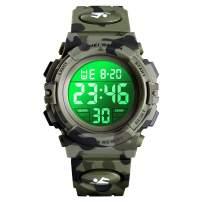 XFCS Kids Watch Girl Boys Camouflage Digital Sport Watch Waterproof EL-Lights Electrical Watches with Alarm Stopwatch Child Wrist Watch Outdoor