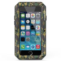 Metal iPhone 7 8 Plus Case, LIGHTDESIRE Aluminum Alloy Protective Metal Extreme Water Resistant Shockproof Military Bumper Heavy Duty Cover Shell 5.5 Inch - Camouflage