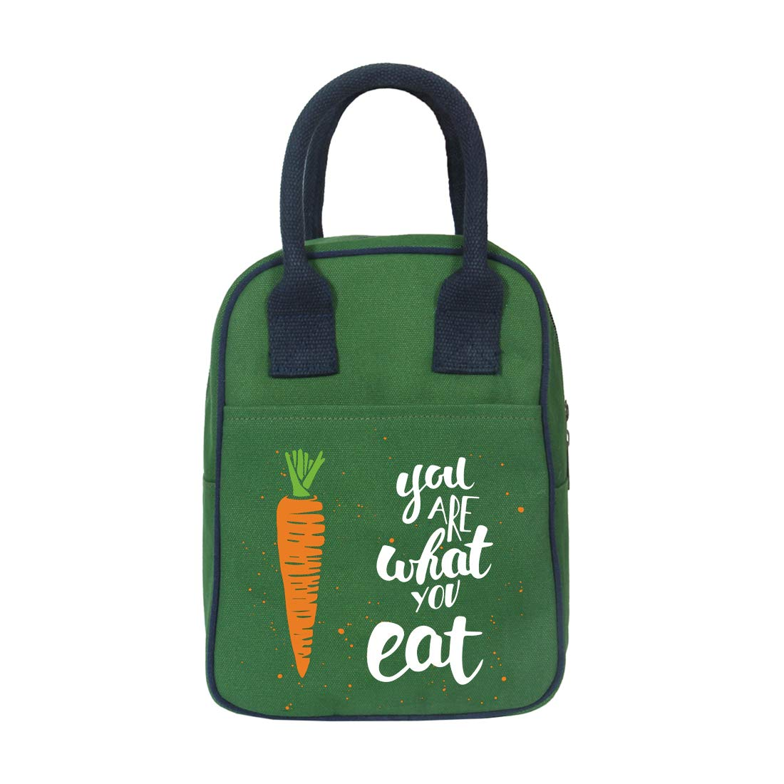 EcoRight Insulated Lunch Bags for Women, Lunch Box for men, Kids, Adults, Eco Friendly Reusable Cooler Bag, Lunch Pail for Work, School, Office, 8L | You Are What You Eat | 0706S29
