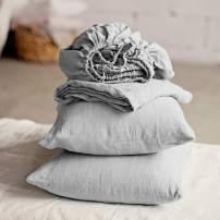 Lausonhouse Linen Sheet Set, 100% Pure French Linen Sheet Set,Luxurious Bedding Set,Deep Pocket - King