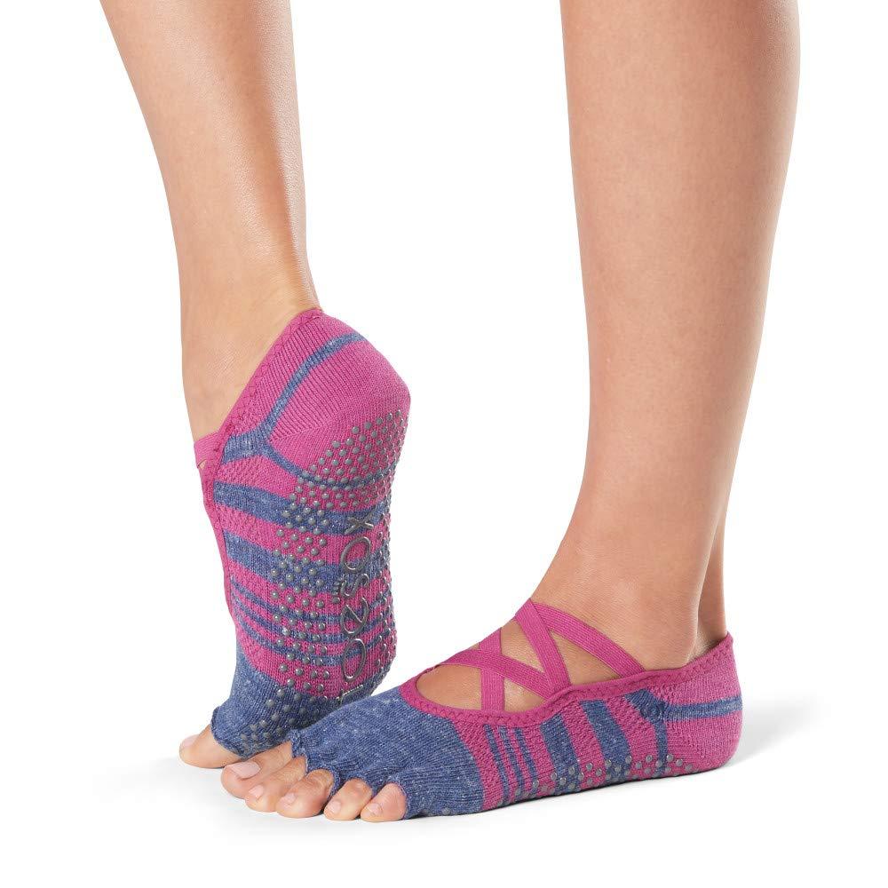 ToeSox Grip Pilates Barre Socks – Non Slip Elle Half Toe for Yoga & Ballet