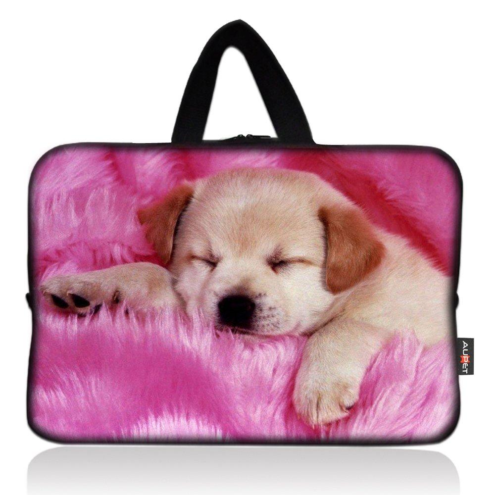 AUPET Pink Dog Universal 7~8 inch Tablet Portable Neoprene Zipper Carrying Sleeve Case Bag