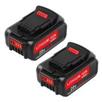 6.0Ah Replace Dewalt 20V Lithium Battery for Dewalt 20 Volt DCB200 DCB201 DCB203 DCB204 DCB205 DCB207 Cordless Power Tools (2Packs)