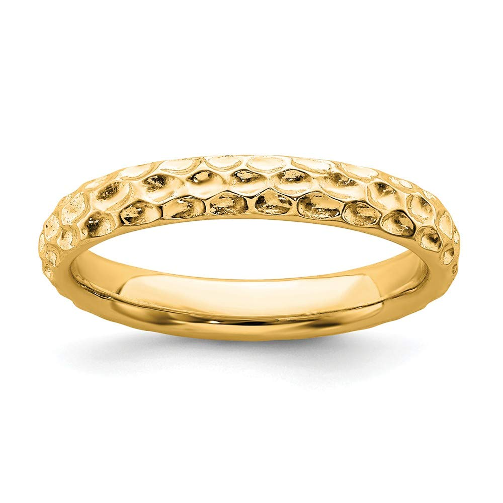 925 Sterling Silver Gold Plated Band Ring Stackable Fancy/Fine Mothers Day Jewelry For Women Gifts For Her