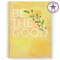 """Softcover Be the Good 8.5"""" x 11"""" Motivational Spiral Notebook/Journal, 120 College Ruled Pages, Durable Gloss Laminated Cover, White Wire-o Spiral. Made in the USA"""