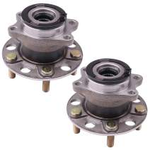 SCITOO Compatible with Wheel Bearing and Hub Assembly OE 512333 for 2007-2008 Dodge Caliber/Jeep 2007-2010 Wheel Hub Bearing 5 Bolts W/ABS (2 Pads)