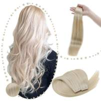 RUNATURE Skin Weft Tape in Hair Extensions 22 Inches Color 60 Platinum Blonde 100g (2.5g Per Piece,40Pcs) Tape on Hair Extensions