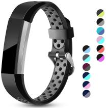 Maledan Replacement Bands Compatible for Fitbit Alta, Fitbit Alta HR and Fitbit Ace, Accessory Sport Bands Air-Holes Breathable Strap Wristbands with Stainless Steel Buckle for Women Men Kids