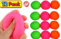 JA-RU Stretchy Ball Assorted Colors (Pack of 12) Bounce Stress Pull and Stretch Fun # 401-12p