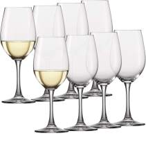 Circleware Wine Glasses, 8-Piece Glassware Set Party Entertainment Dining Beverage Drinking Cups for Water, Liquor, Whiskey, Beer, Juice and Farmhouse, Decor Gifts, Barletta, 15.7 oz