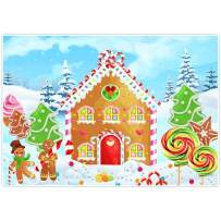 Allenjoy 8x6ft Gingerbread House Backdrop Cookie Exchange Supplies Cartoon Fantasy Candyland Christmas Family Xmas Party Boy Girl Newborn Baby Shower Birthday Photography Decorations Photoshoot Props